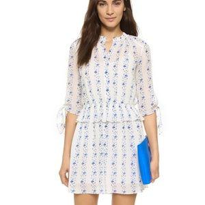 Club Monaco Ayuek Dress Blue White Floral Size 2